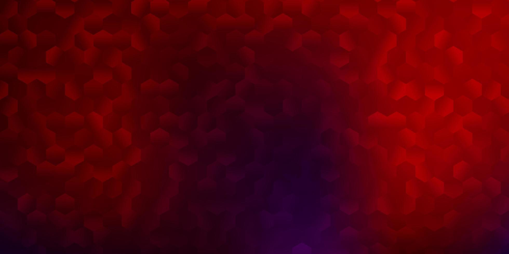 padrão de vetor azul e vermelho escuro com hexágonos.