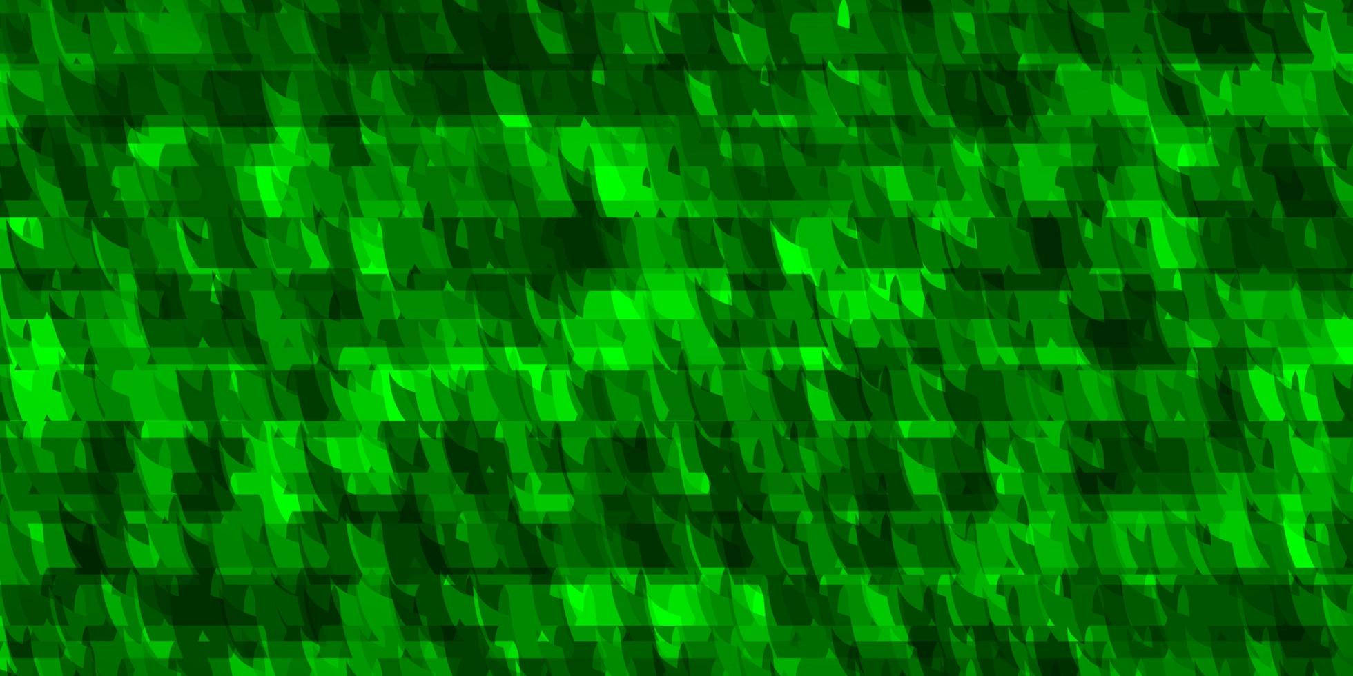 de fundo vector verde claro com linhas, triângulos.