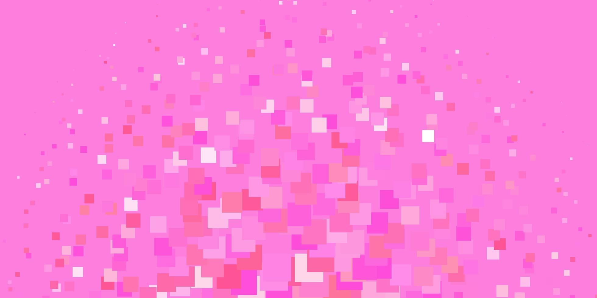 layout de vetor rosa claro com linhas, retângulos.