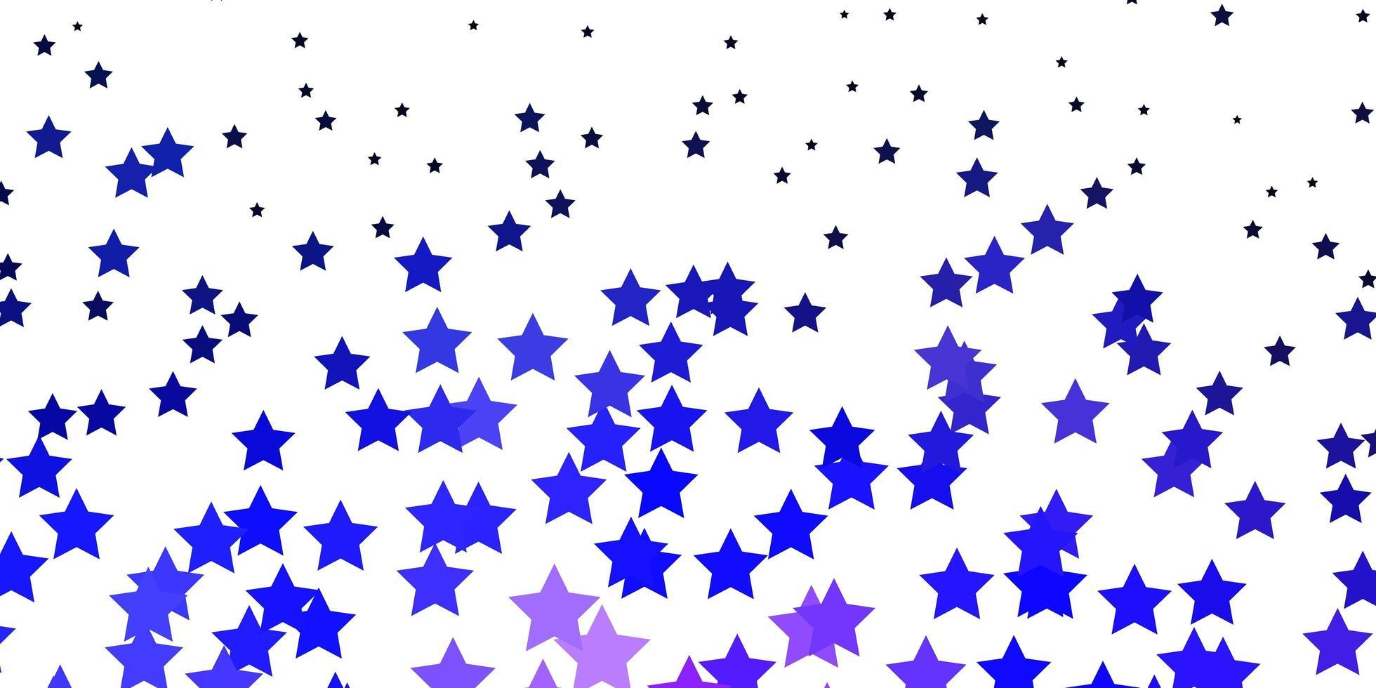 fundo vector roxo escuro com estrelas pequenas e grandes.