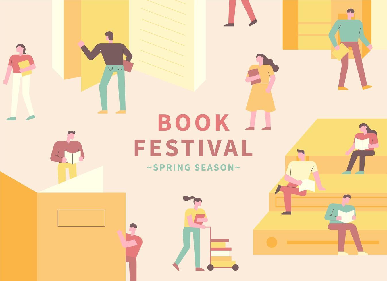 pôster do festival de livro vetor