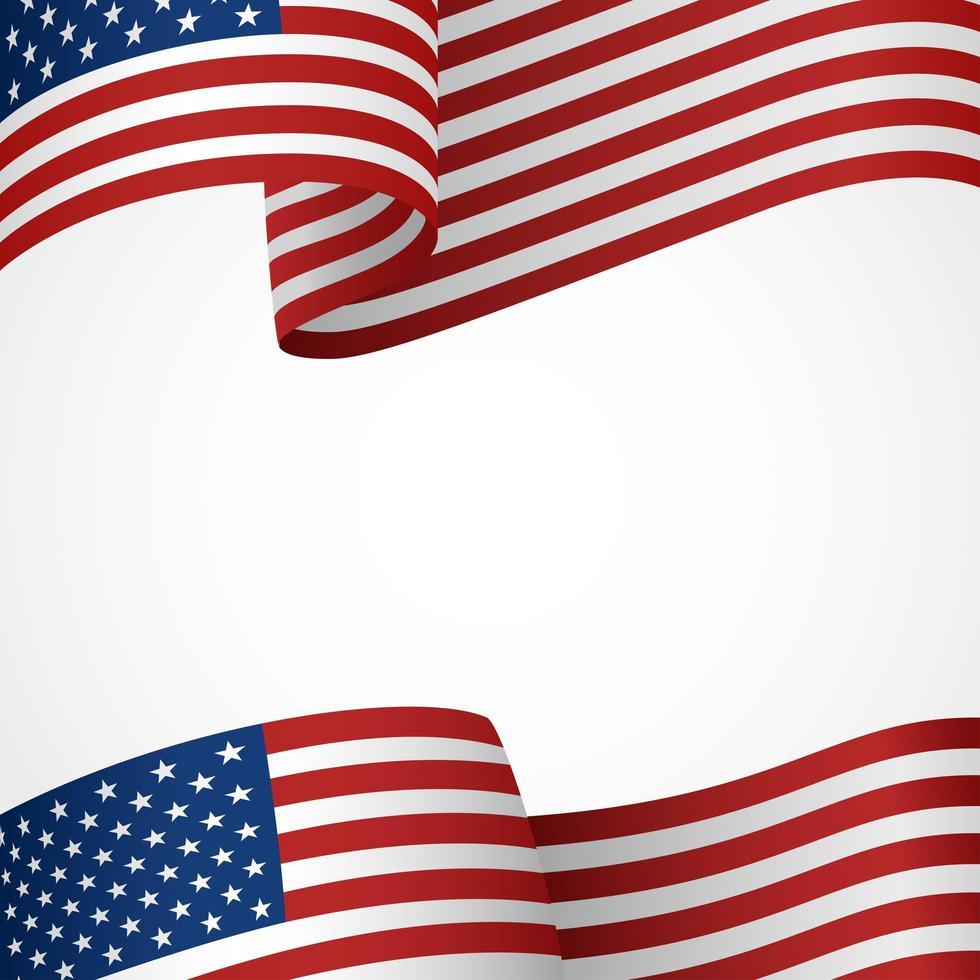 fundo do banner da bandeira dos EUA vetor