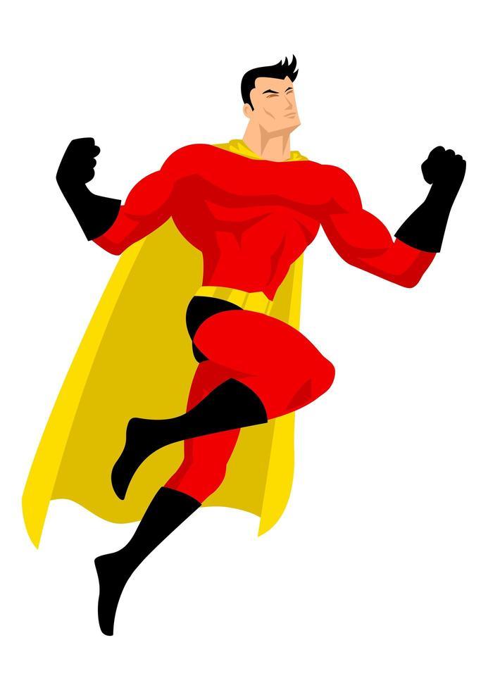 super-herói em pose de vôo vetor