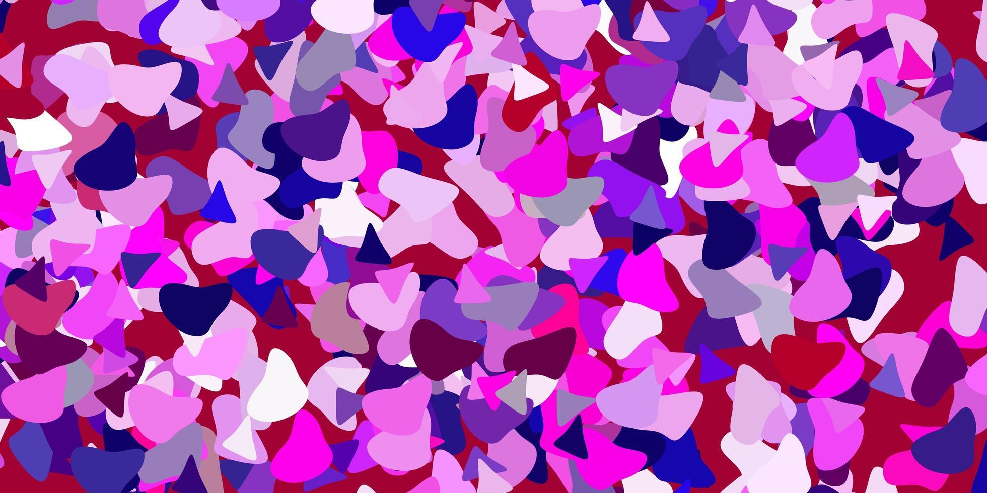 de fundo vector rosa claro roxo com formas aleatórias.