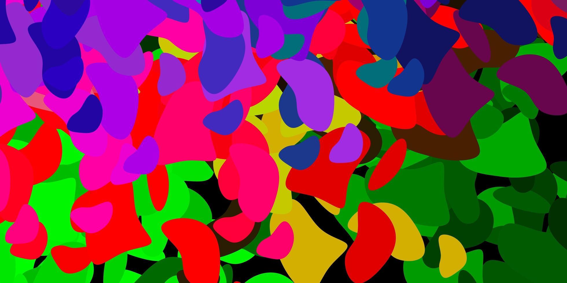 textura vector rosa claro, verde com formas de memphis.