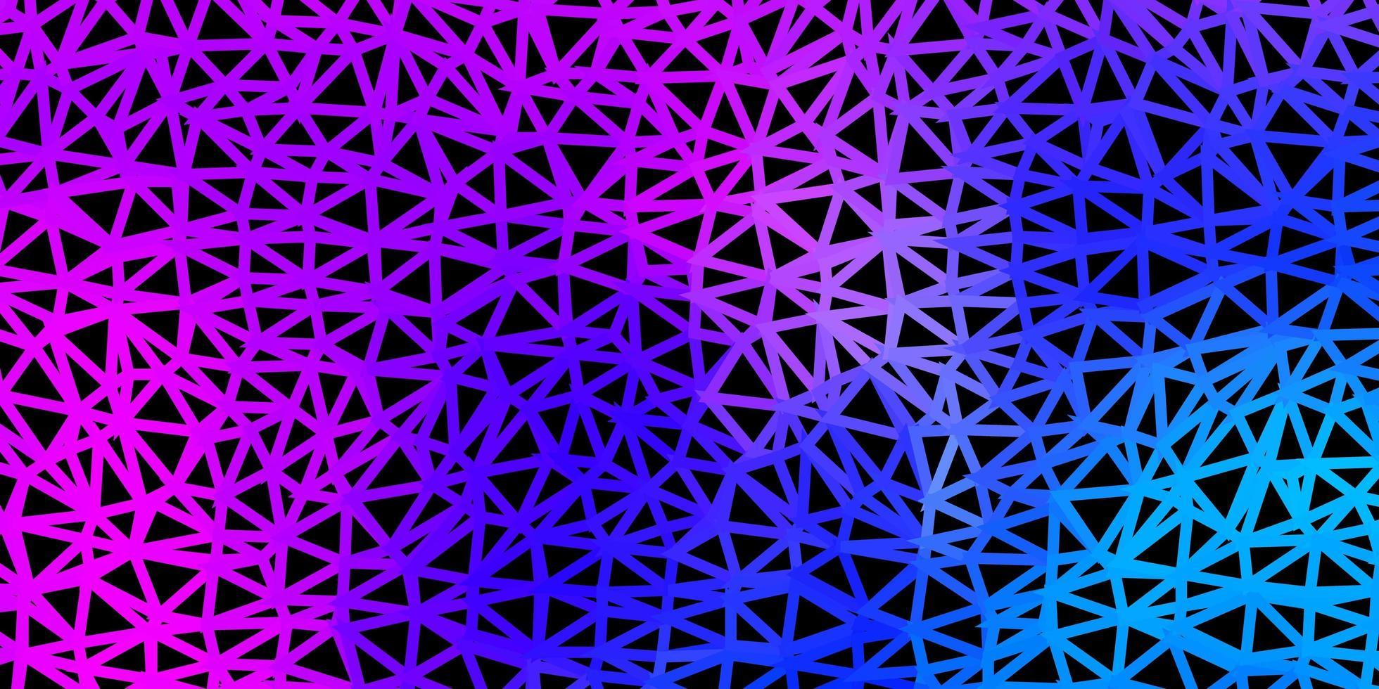 modelo de mosaico de triângulo de vetor rosa claro e azul.