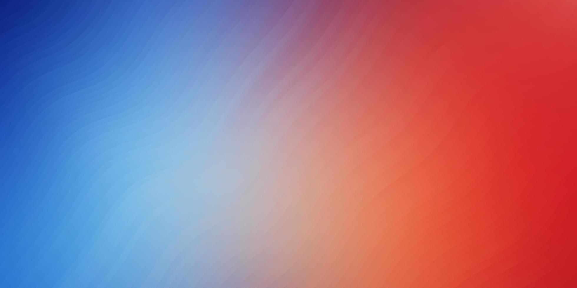 padrão de vetor azul e vermelho claro com linhas curvas.