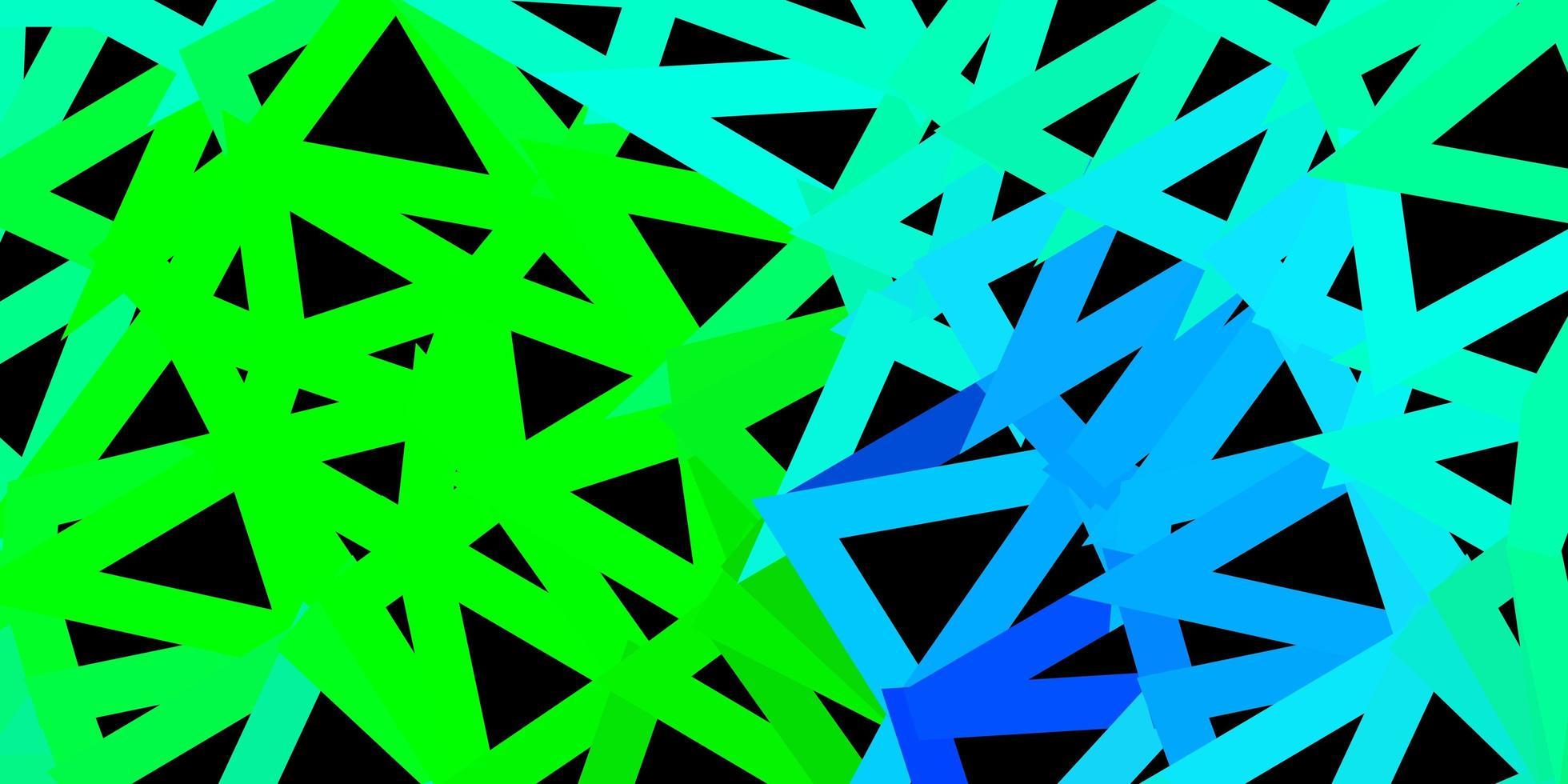 modelo de triângulo abstrato de vetor multicolorido escuro.