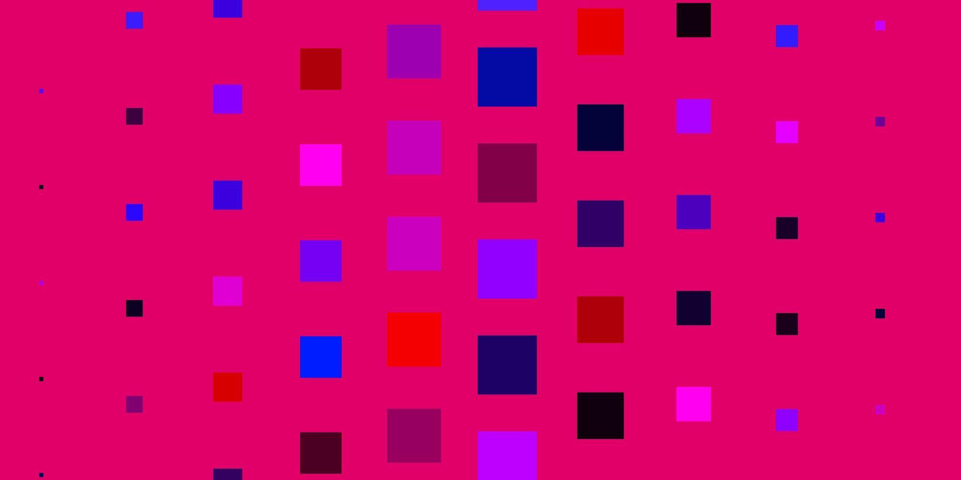 layout de vetor azul claro e vermelho com linhas, retângulos