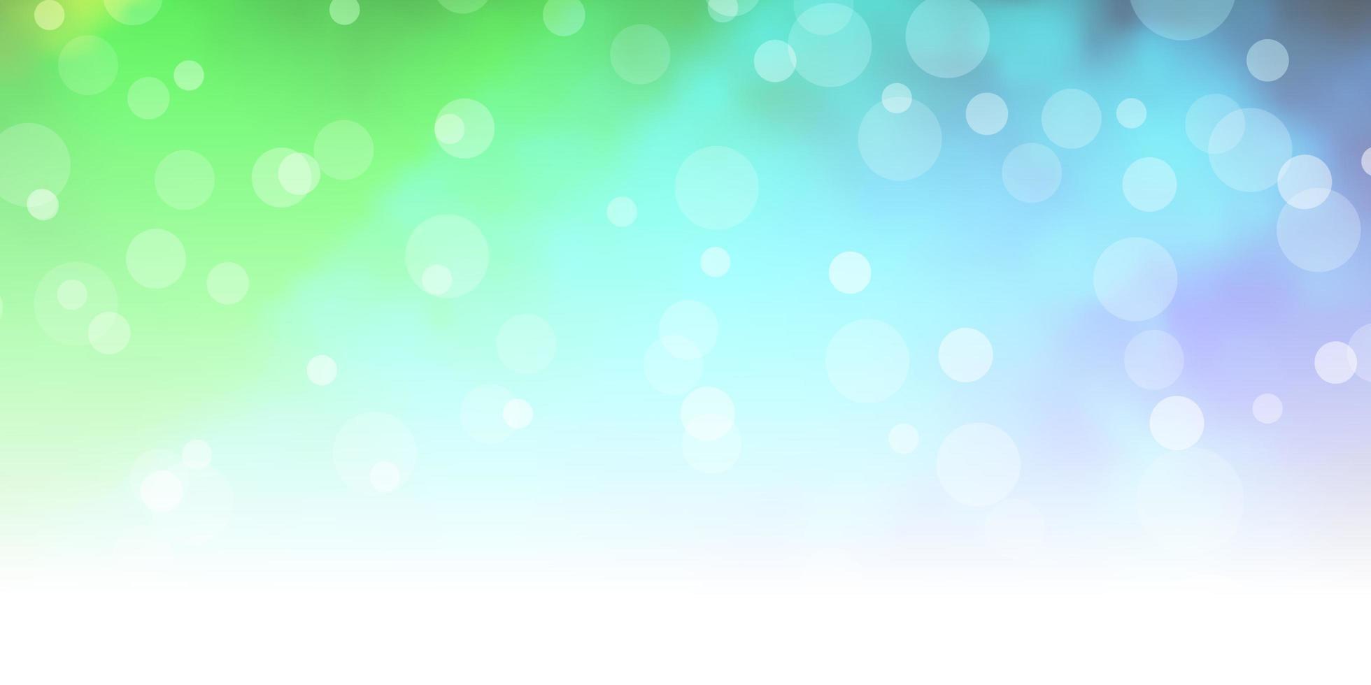 fundo de vetor azul claro e verde com círculos