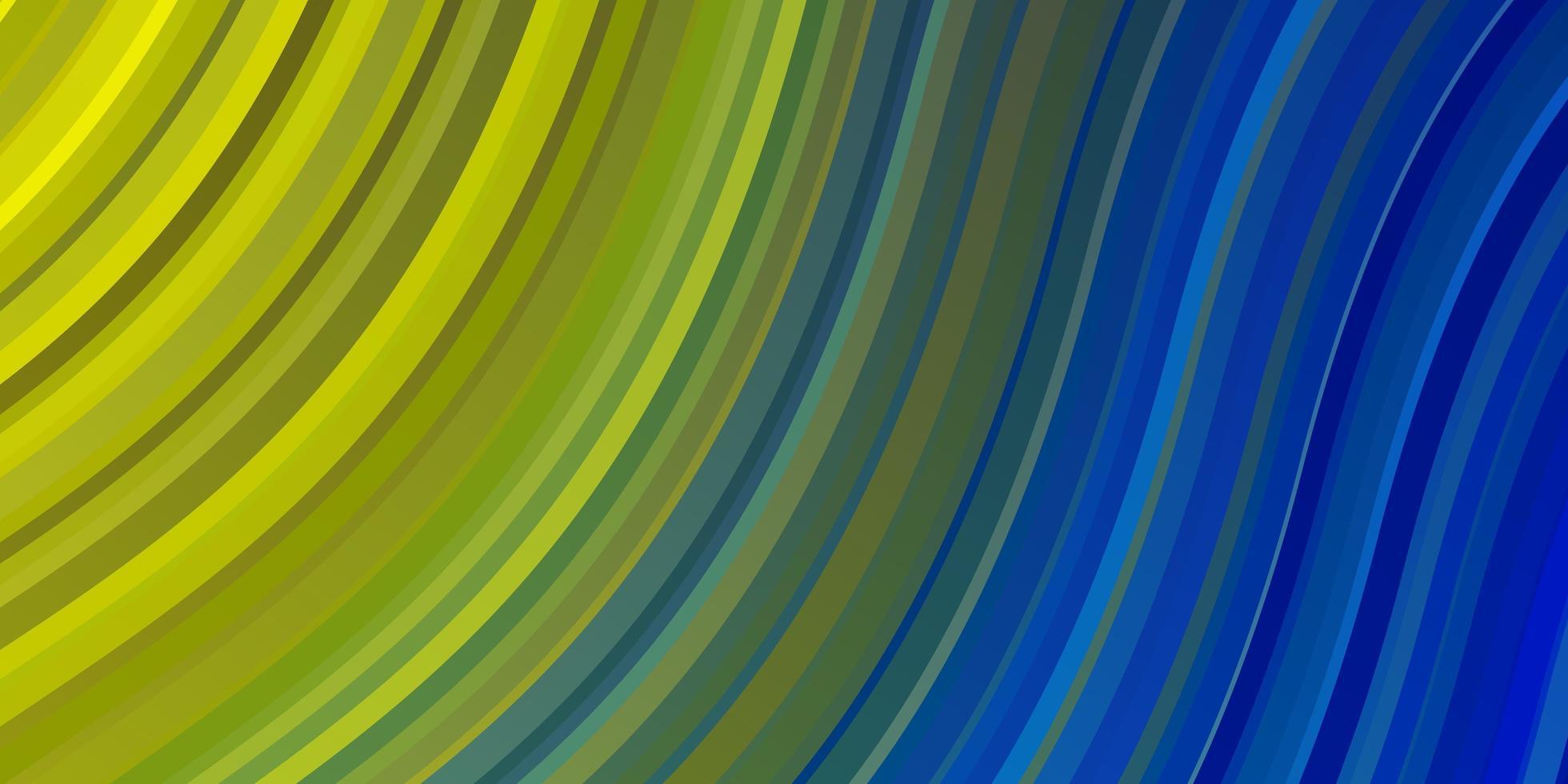 fundo vector azul e amarelo claro com linhas dobradas.