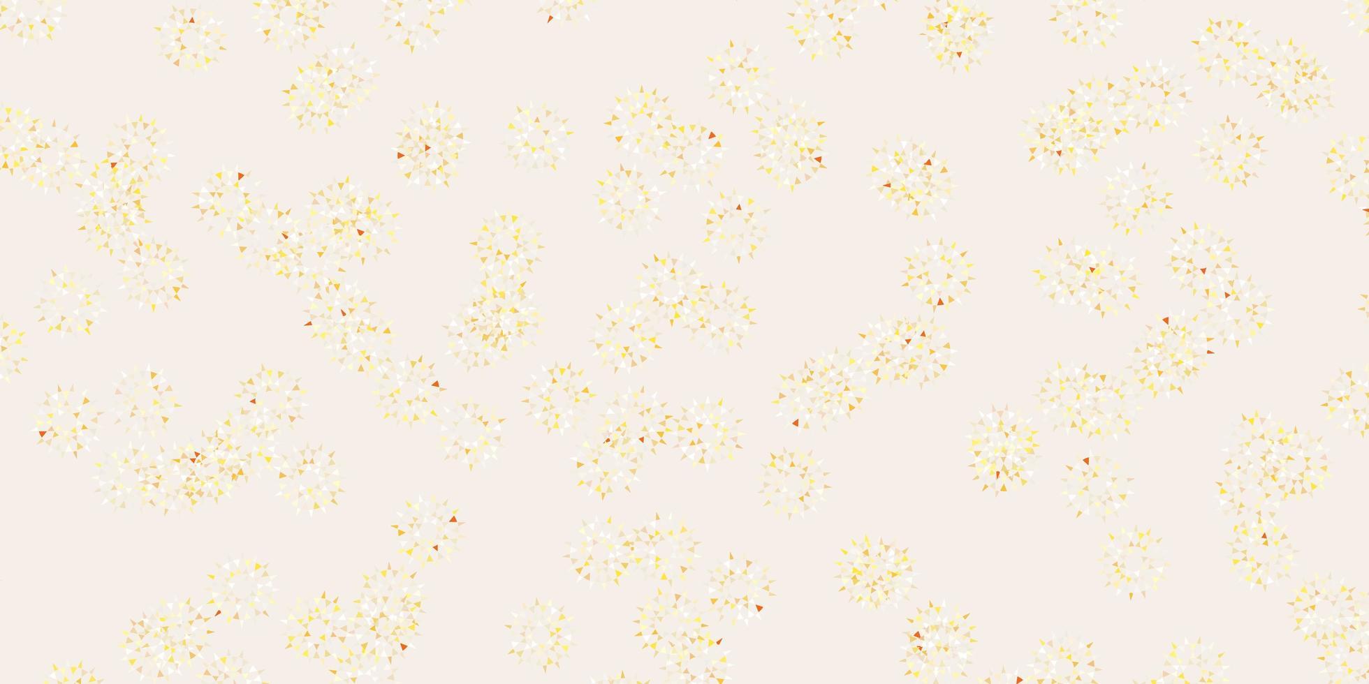 layout natural do vetor laranja claro com flores.