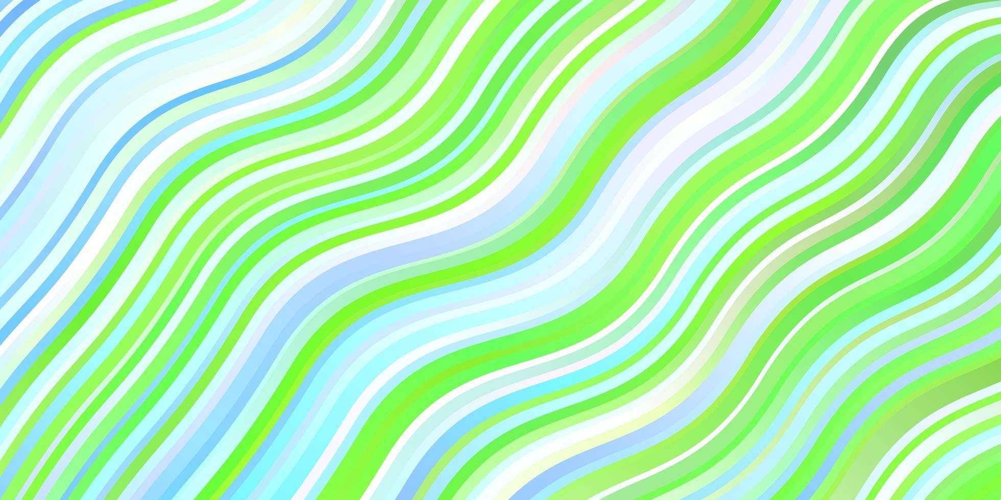 pano de fundo vector azul e verde claro com curvas.