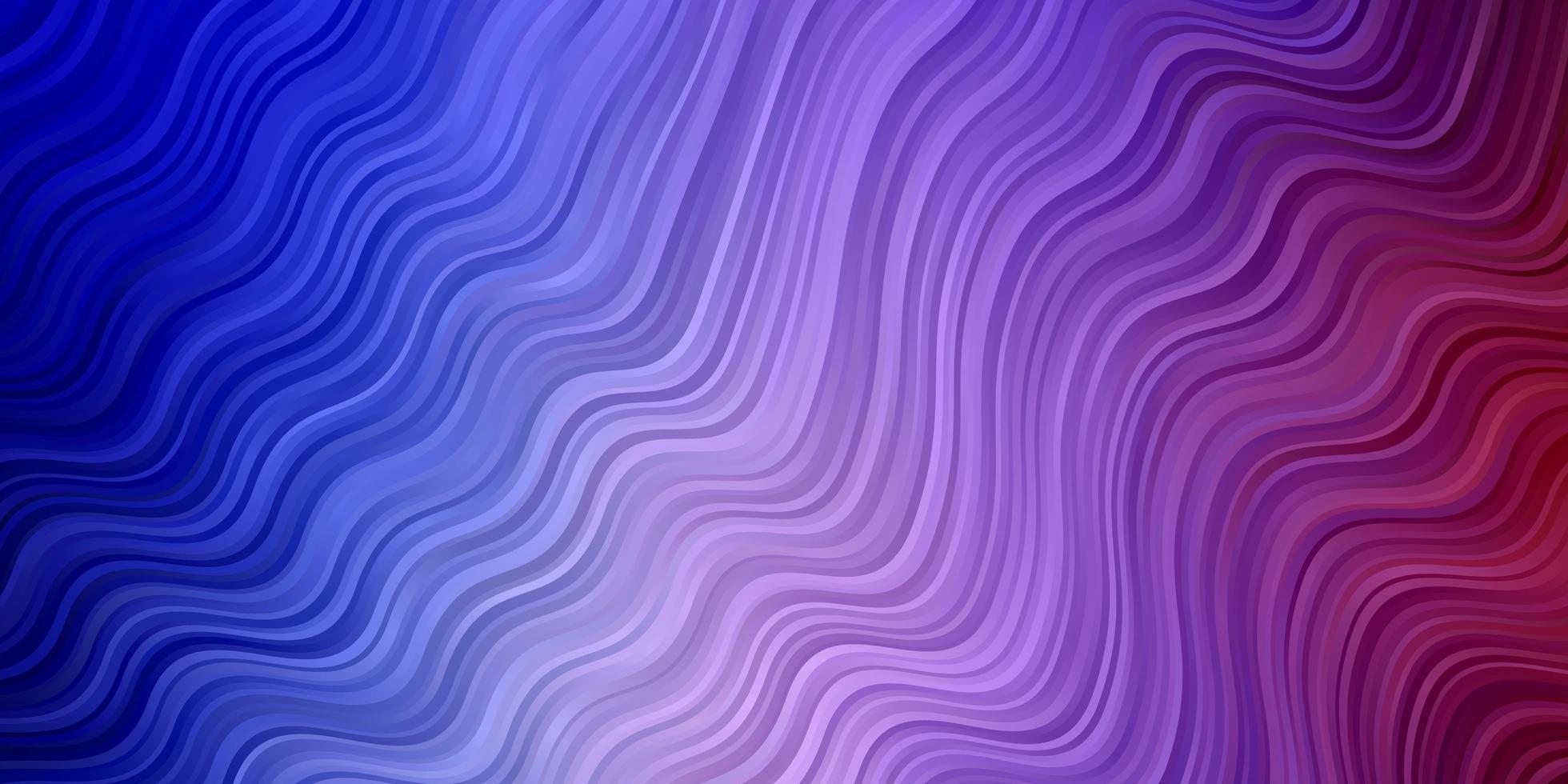 pano de fundo vector azul e vermelho claro com curvas.