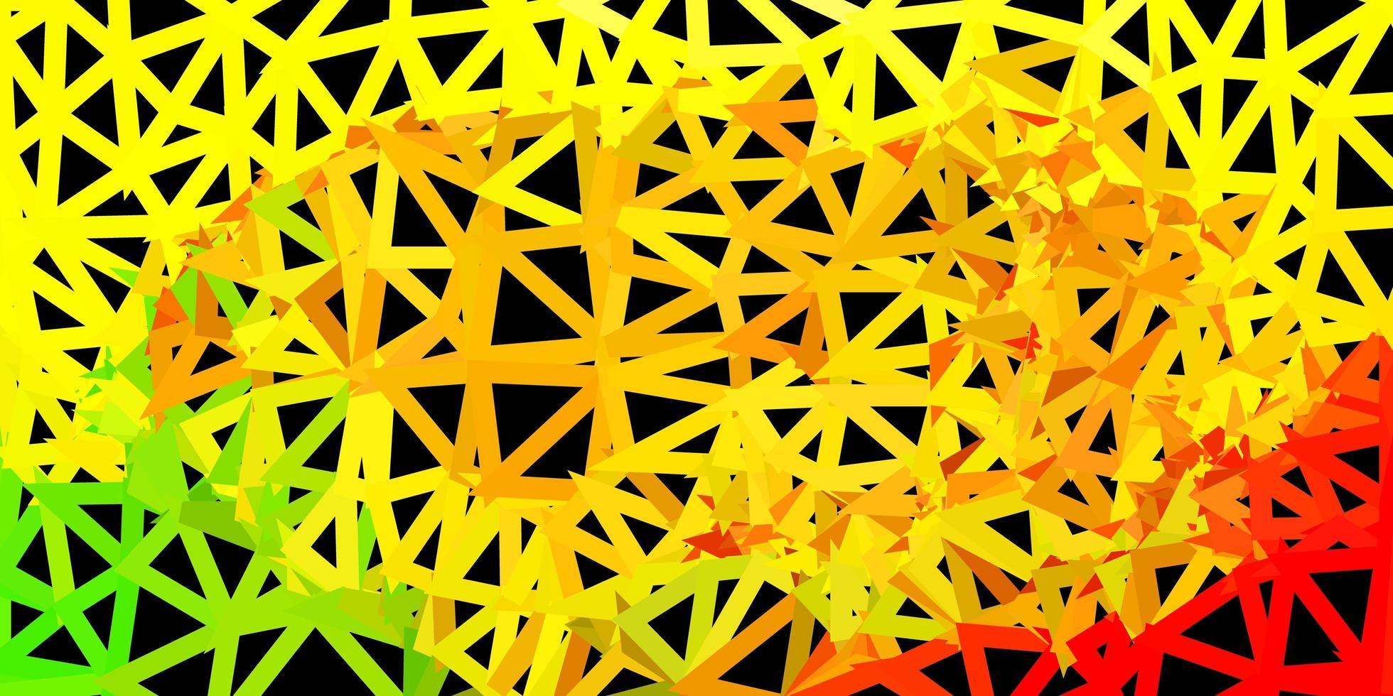 fundo do triângulo abstrato do vetor vermelho e amarelo claro.