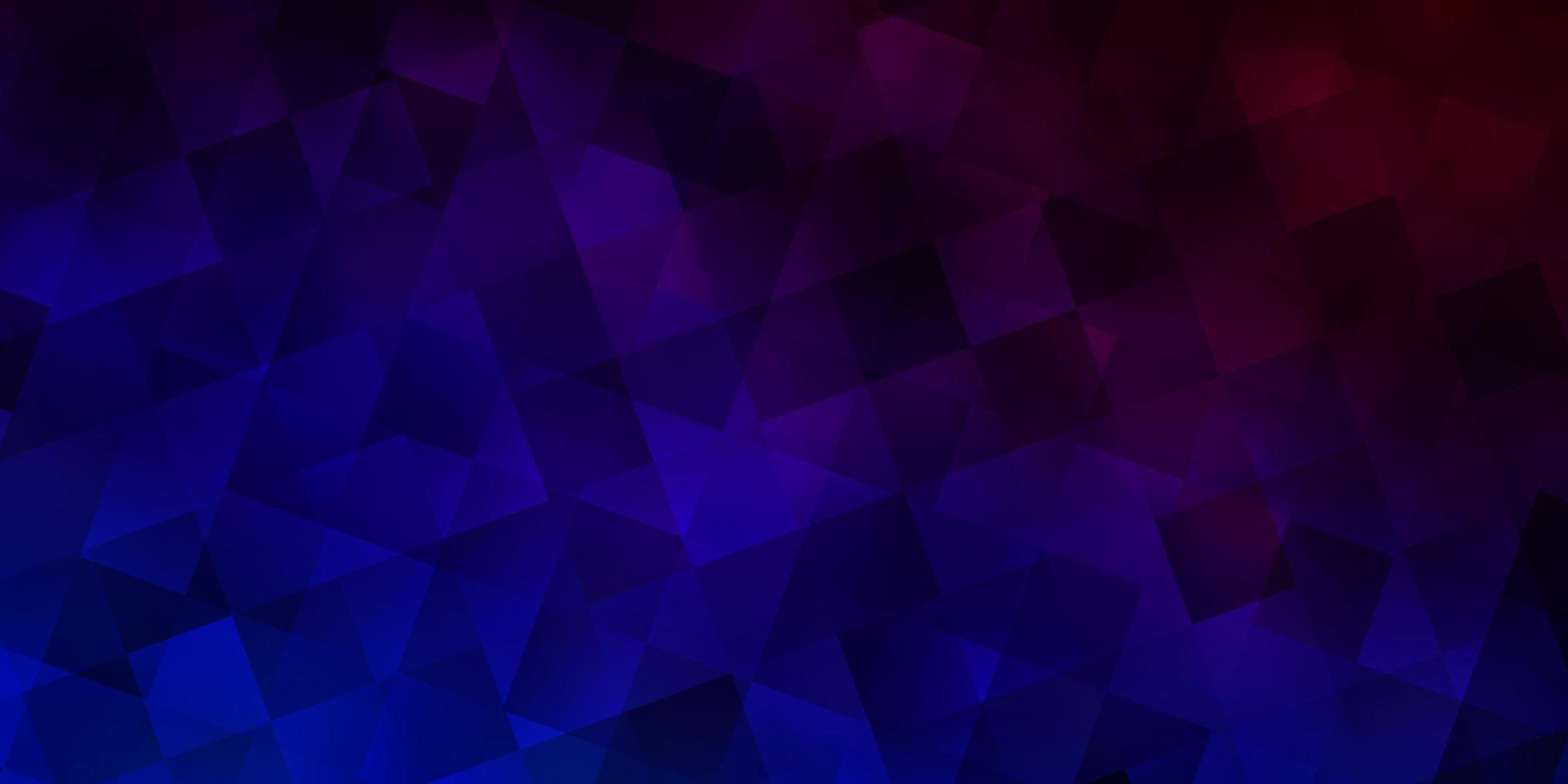 textura vector azul e vermelho escuro com estilo poli com cubos.
