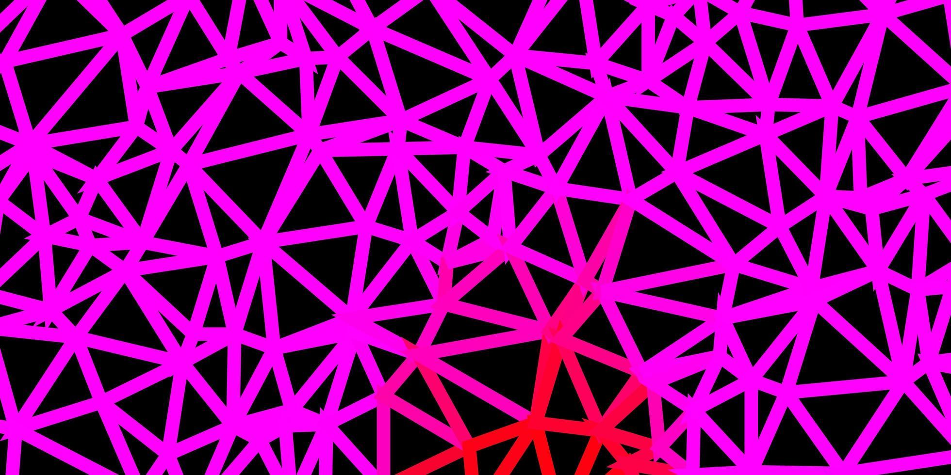 pano de fundo do triângulo abstrato do vetor rosa claro, vermelho.