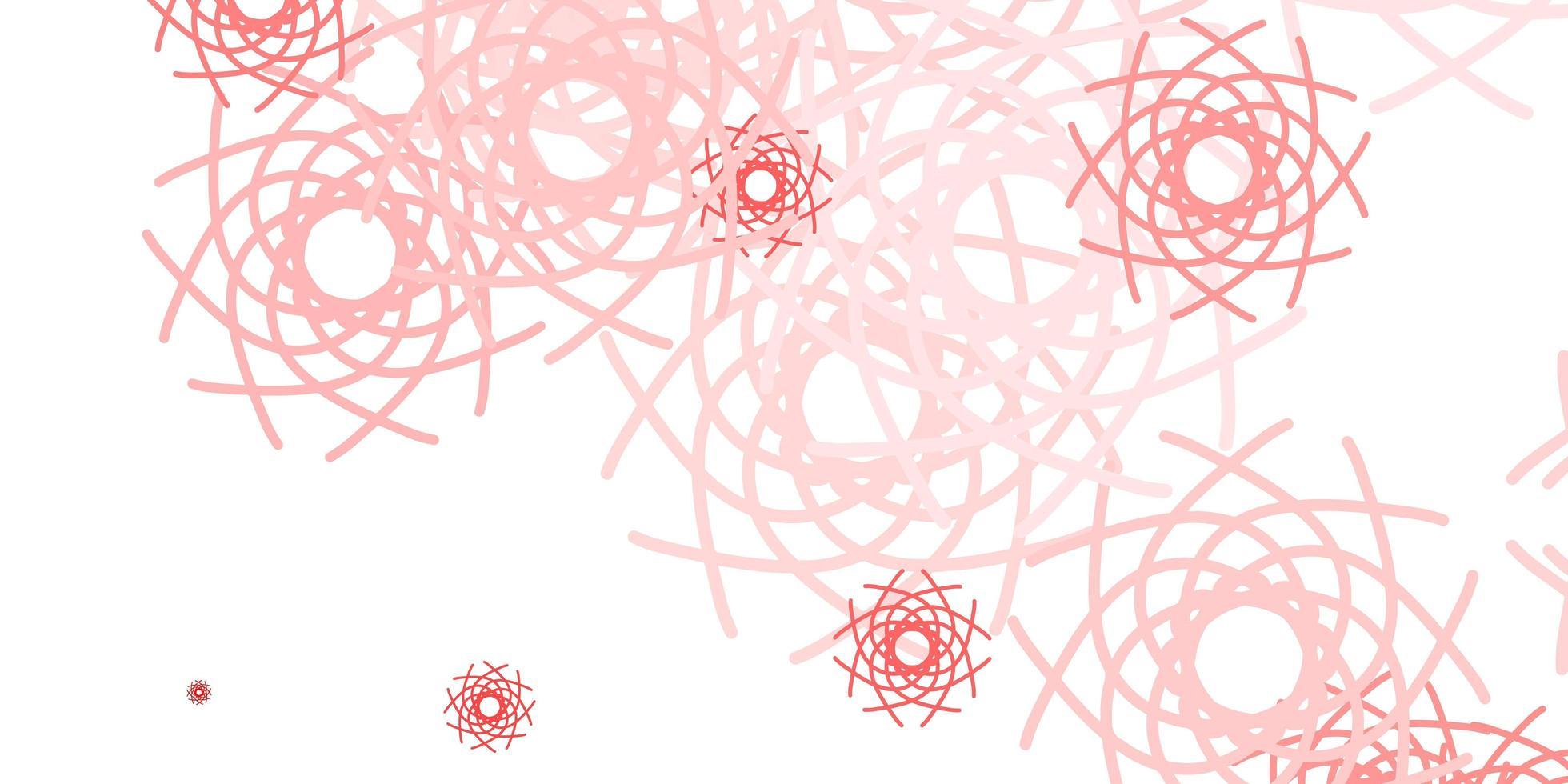 textura vector vermelho claro com formas de memphis.