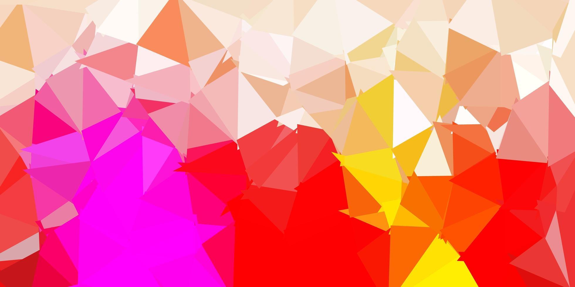 textura de triângulo abstrato de vetor rosa e amarelo claro.