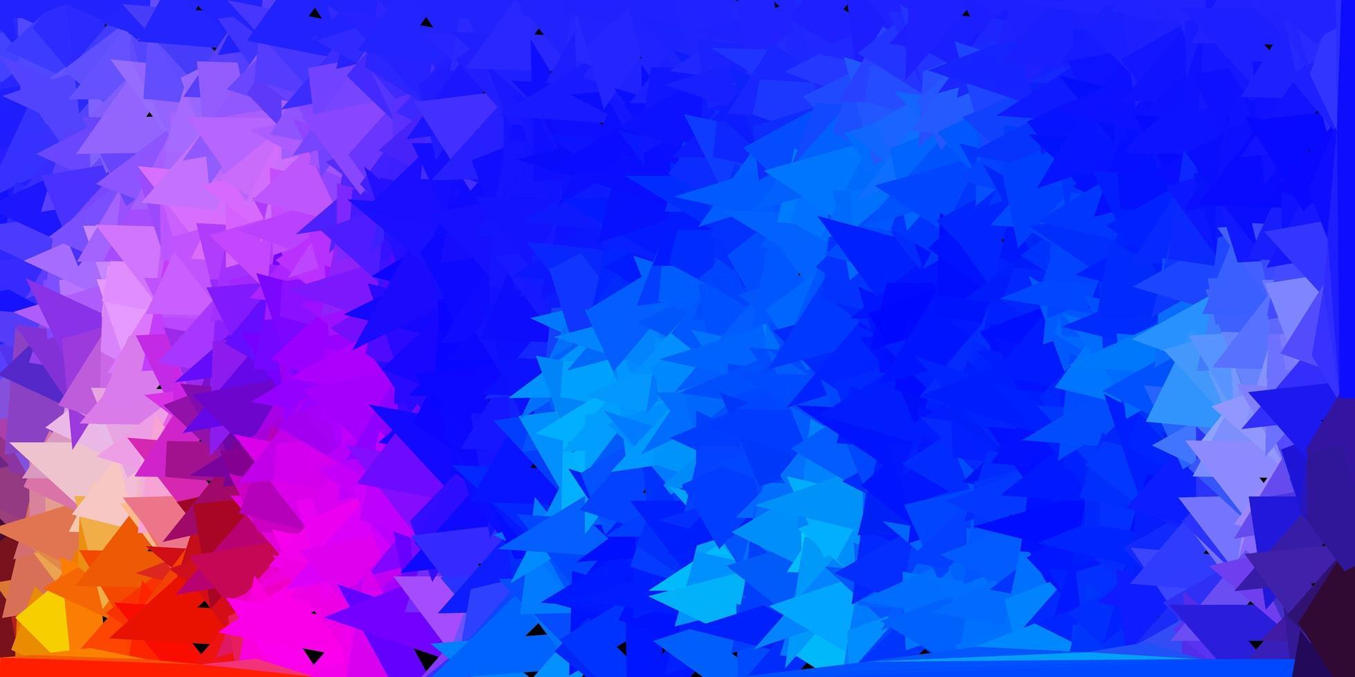 modelo de mosaico de triângulo de vetor multicolorido claro