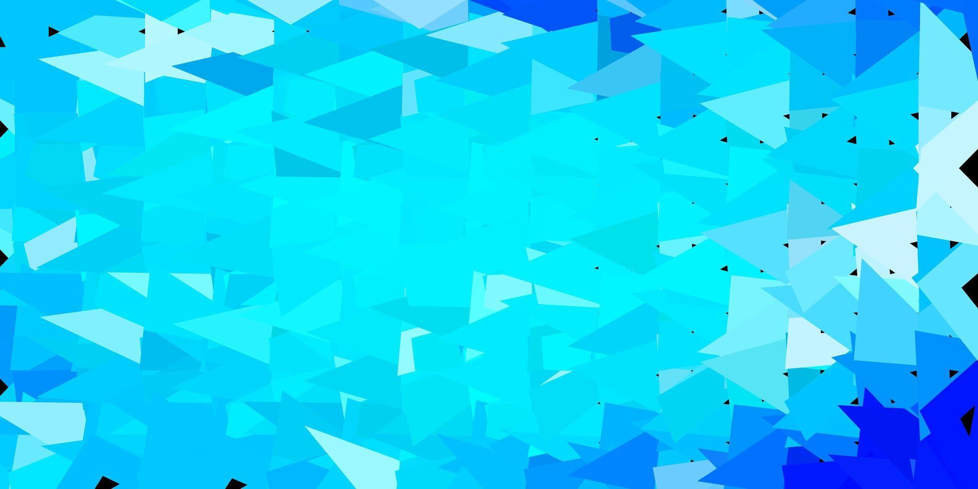 pano de fundo do mosaico do triângulo do vetor azul claro.