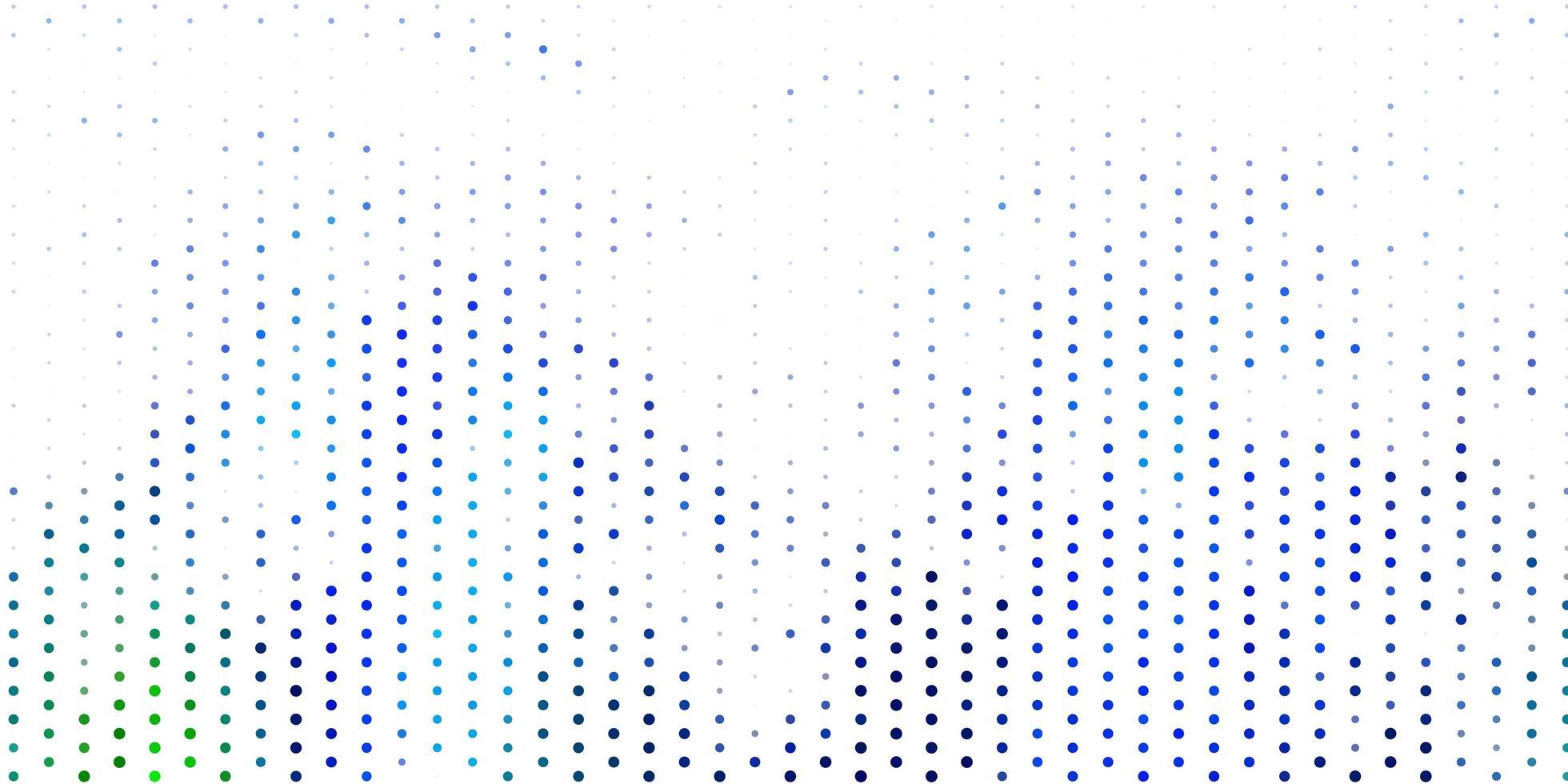 padrão de vetor azul e verde claro com esferas.