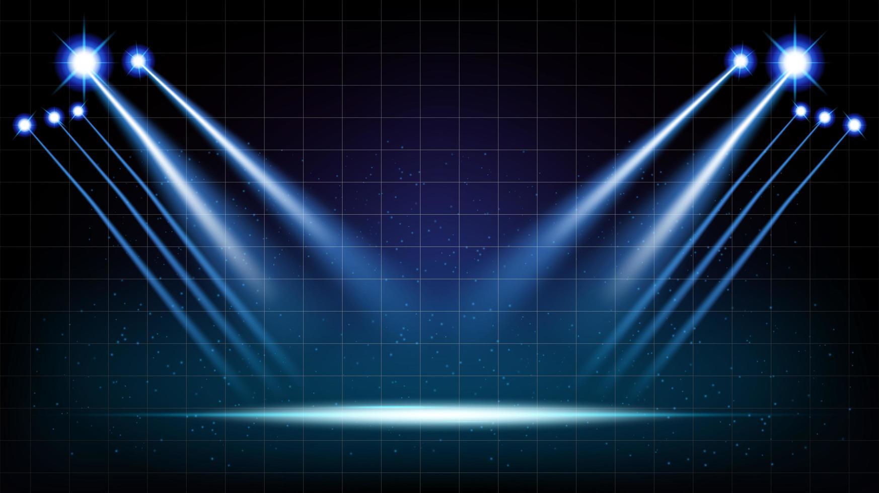 sala de palco com fundo abstrato com luzes cênicas vetor