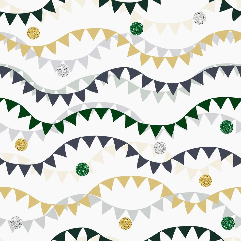 padrão de fundo sem costura com bandeiras decorativas coloridas vetor
