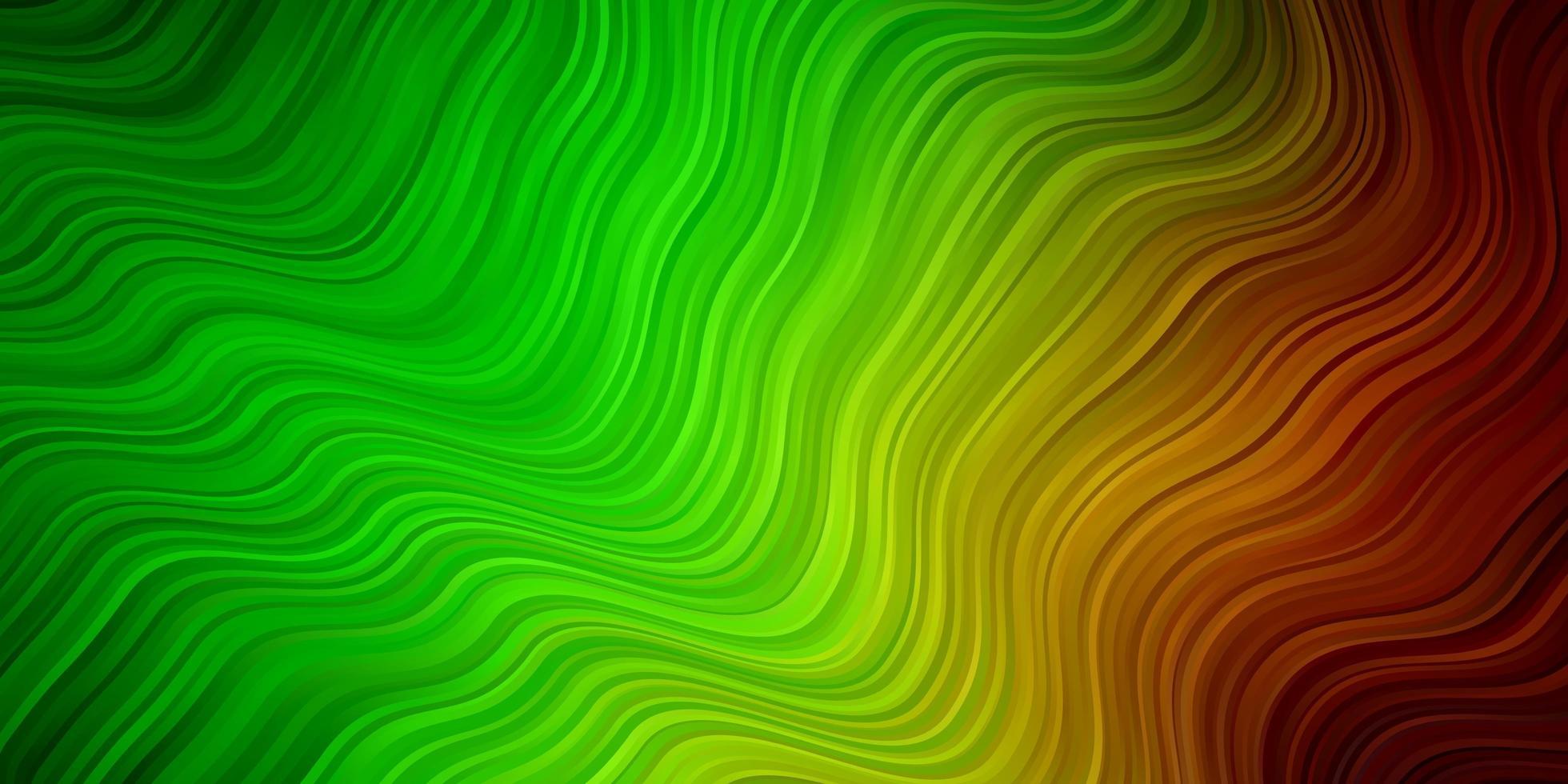 textura de vetor verde e vermelho claro com curvas.