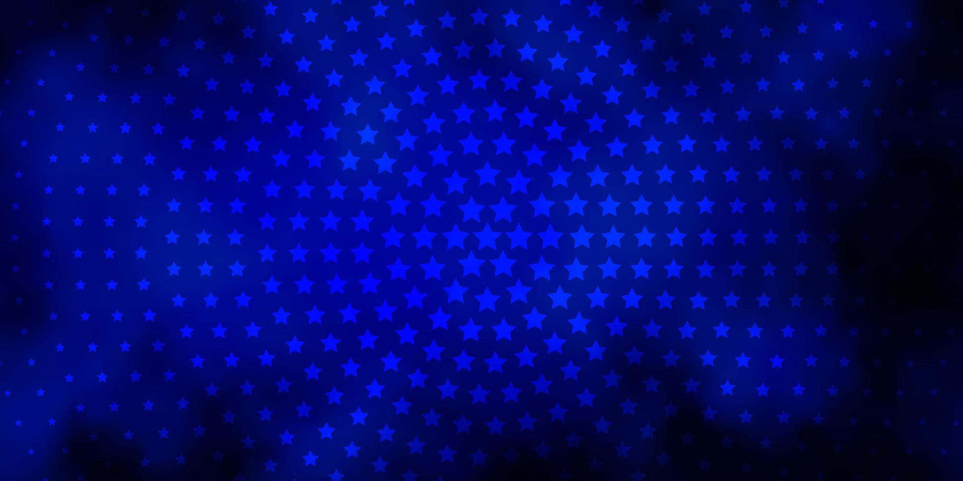layout de vetor de azul escuro com estrelas brilhantes.