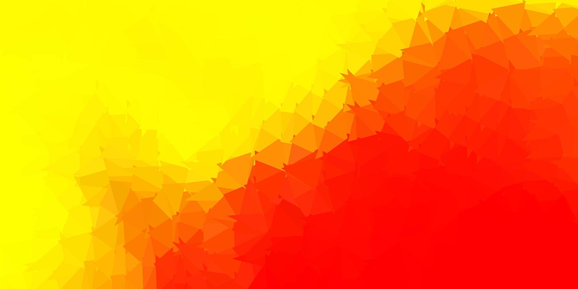 luz vermelha e amarela padrão de triângulo abstrato do vetor. vetor