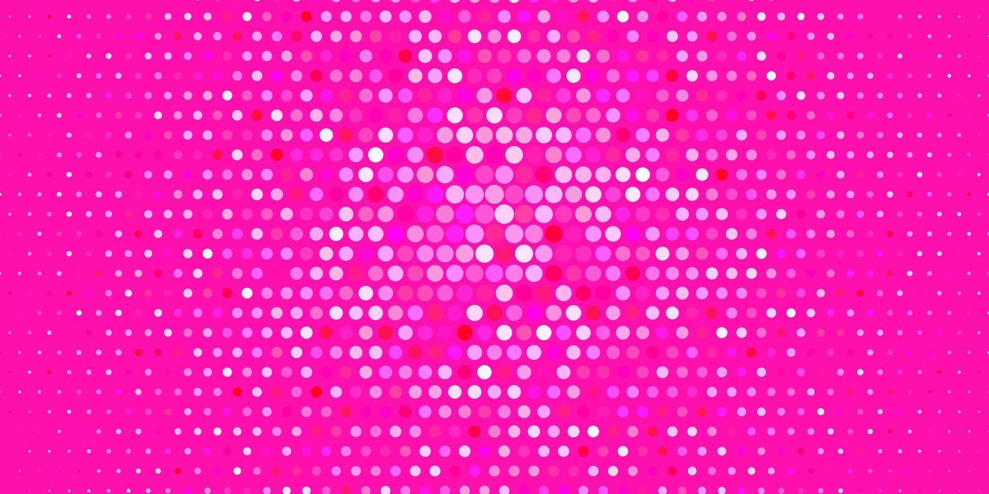 fundo do vetor rosa claro com bolhas.