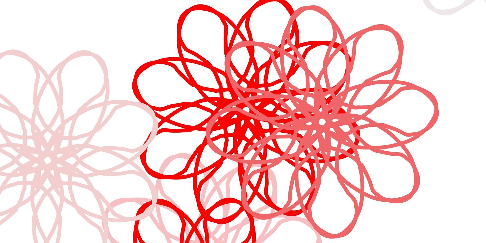 cenário natural de vetor vermelho claro com flores.
