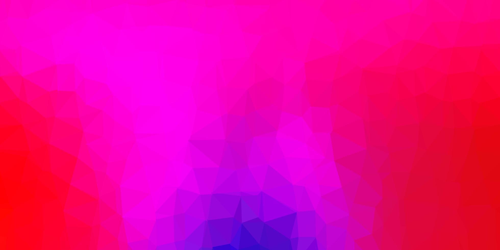 layout de polígono gradiente de vetor de azul escuro e vermelho.