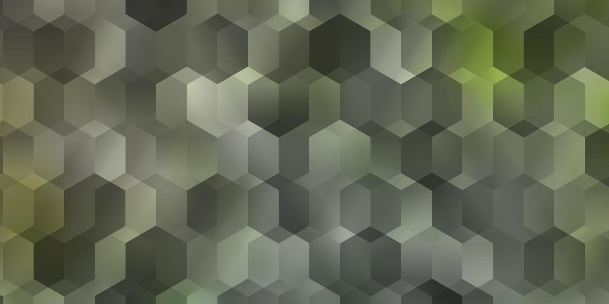 cenário de vetor verde claro com hexágonos.