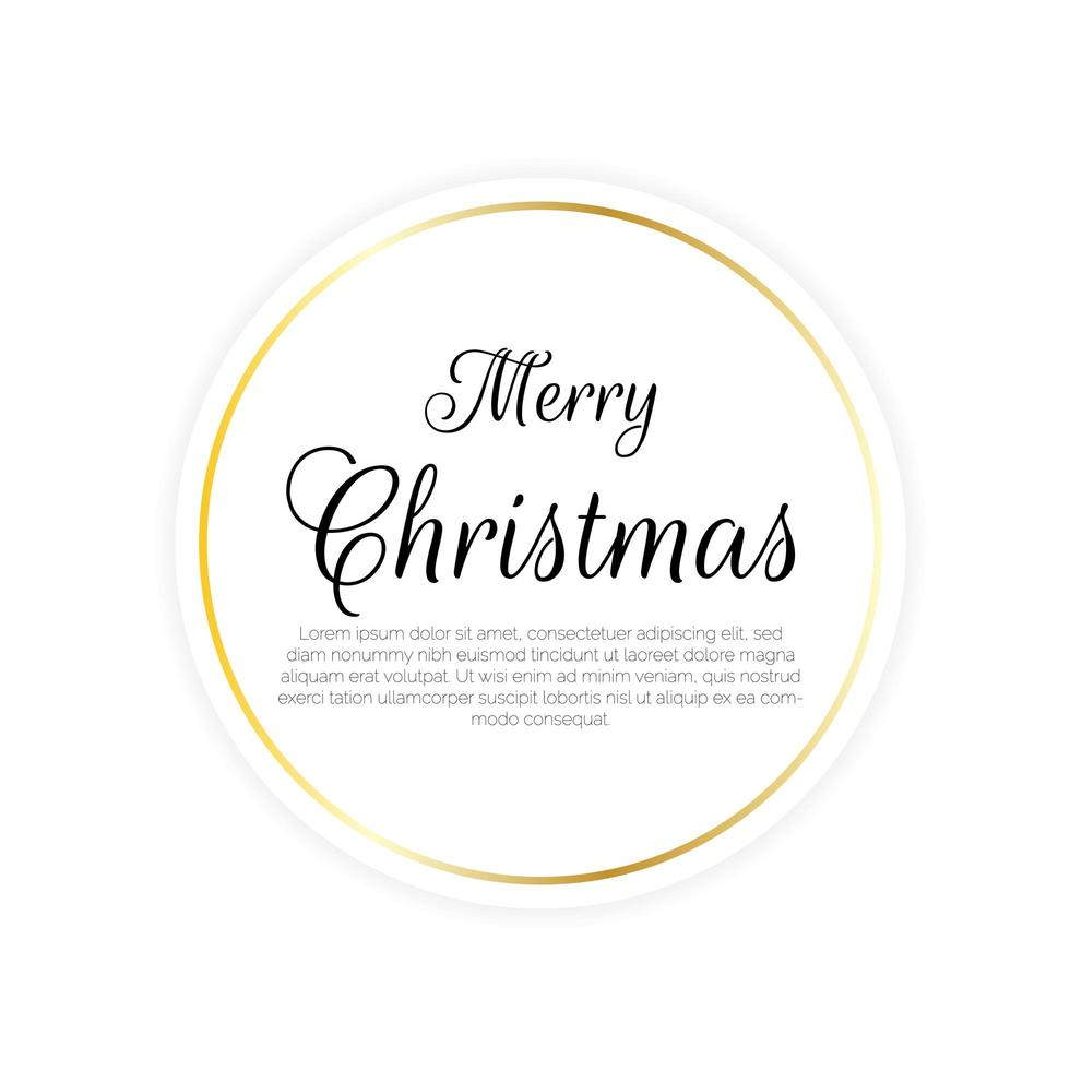 cartão circular feliz natal vetor