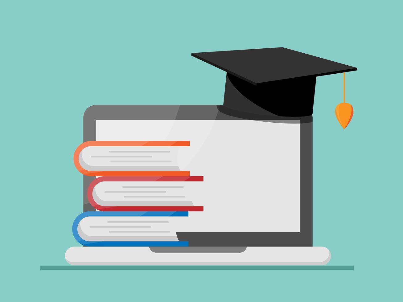 ilustração em vetor conceito educação online