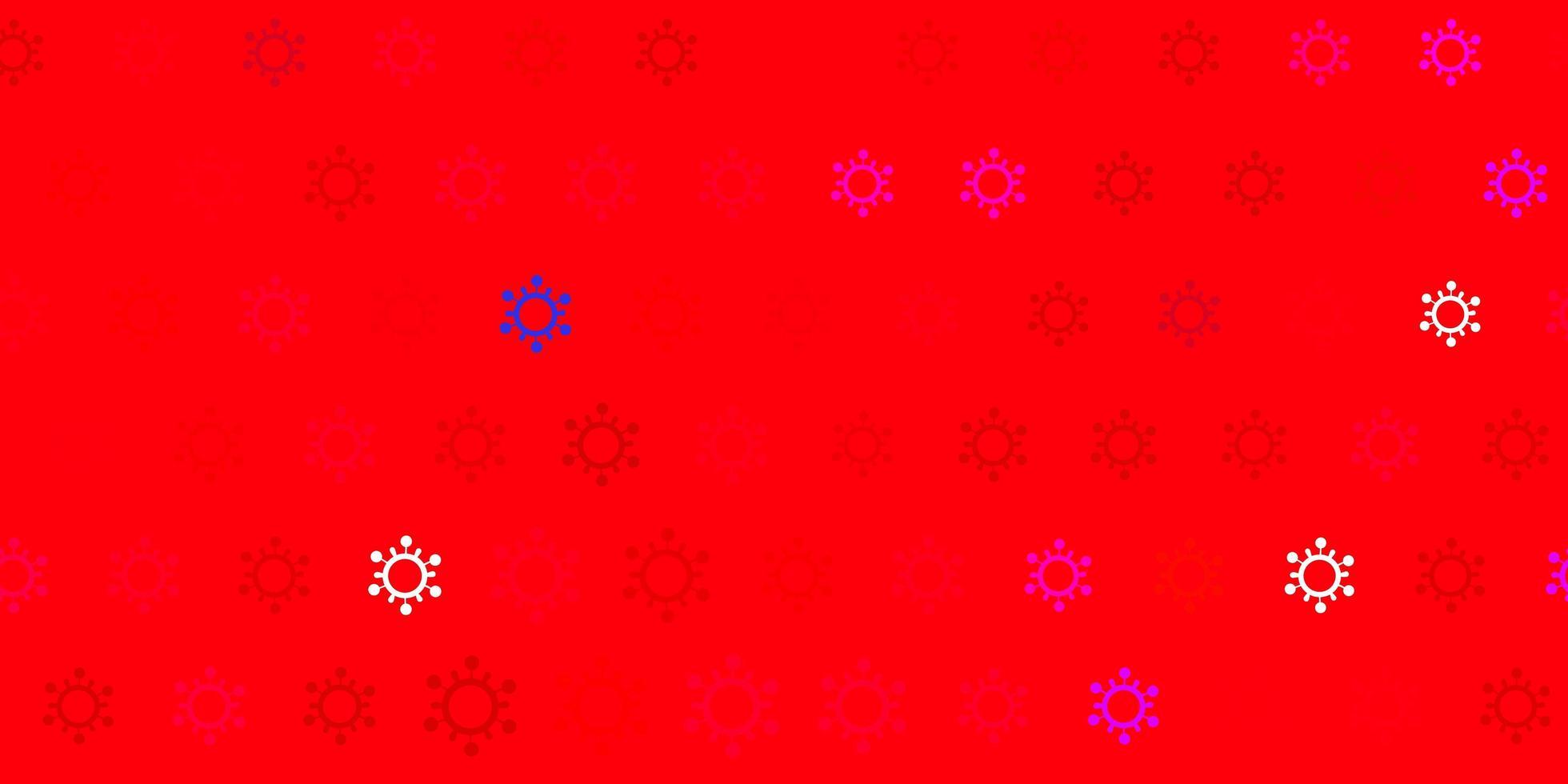 textura vector vermelho escuro com símbolos de doença.
