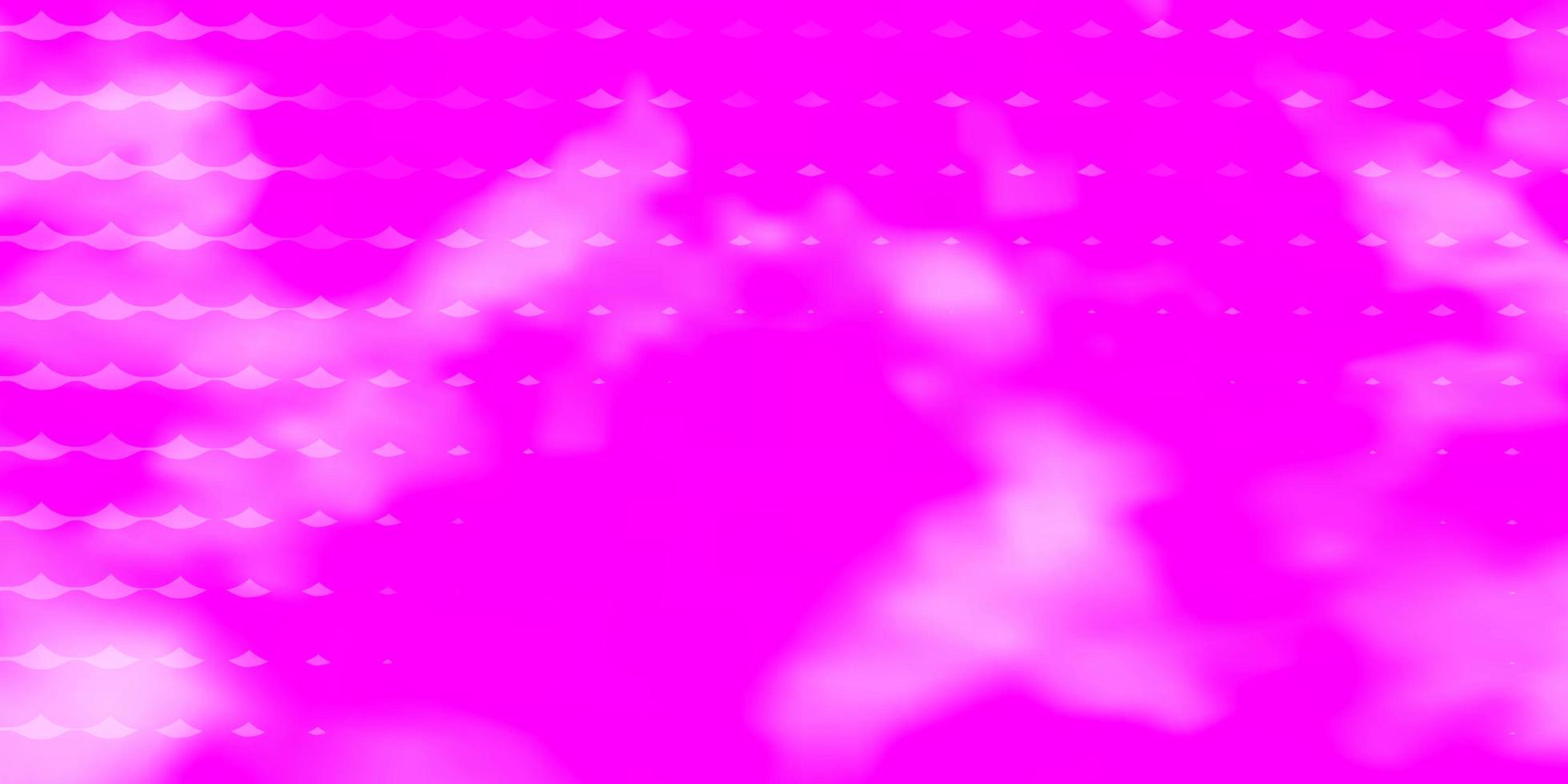 layout de vetor rosa claro com círculos.