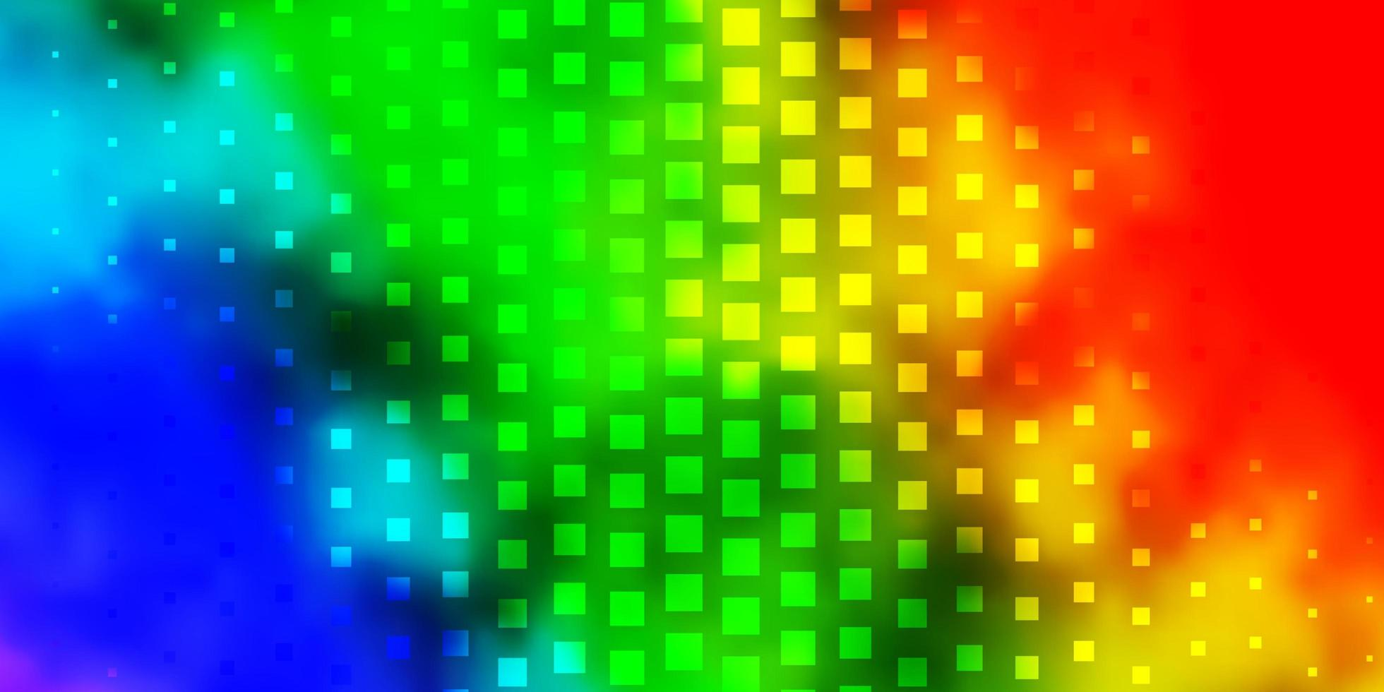 textura leve luz multicolor em estilo retangular. vetor
