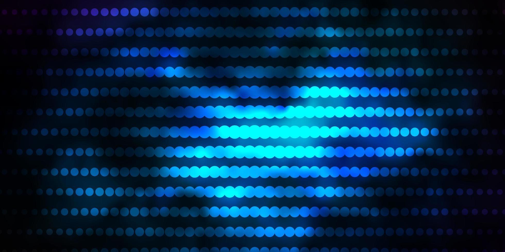 fundo vector azul escuro com círculos.