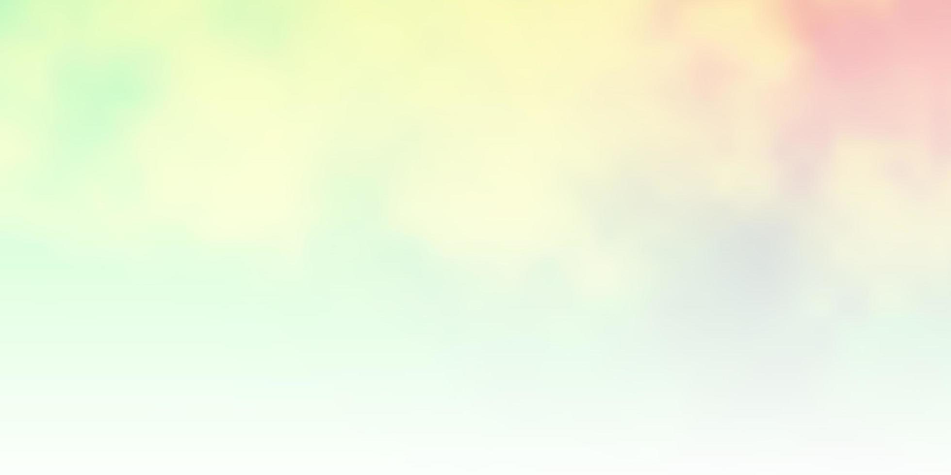 layout de vetor verde e amarelo claro com cloudscape.