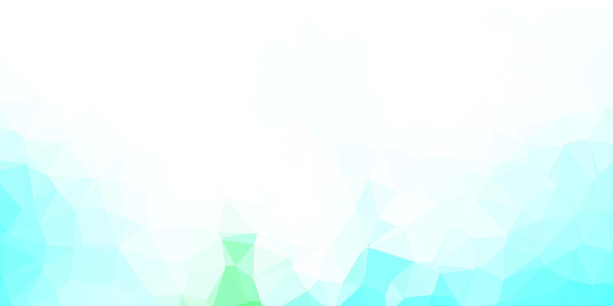 pano de fundo do triângulo abstrato do vetor azul claro, verde.