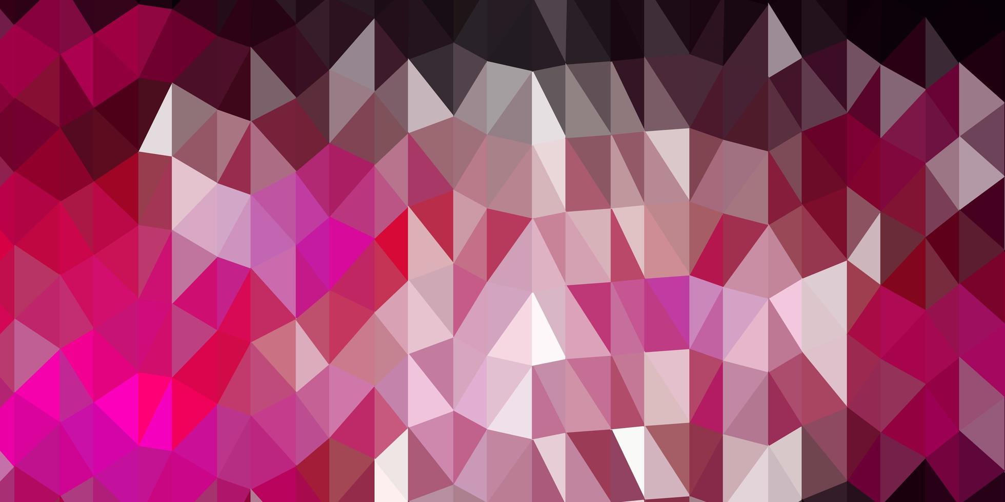 modelo de triângulo poli de vetor rosa escuro.