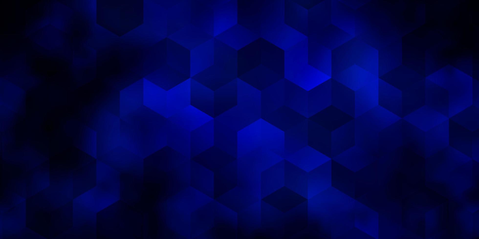 pano de fundo vector azul escuro com hexágonos.
