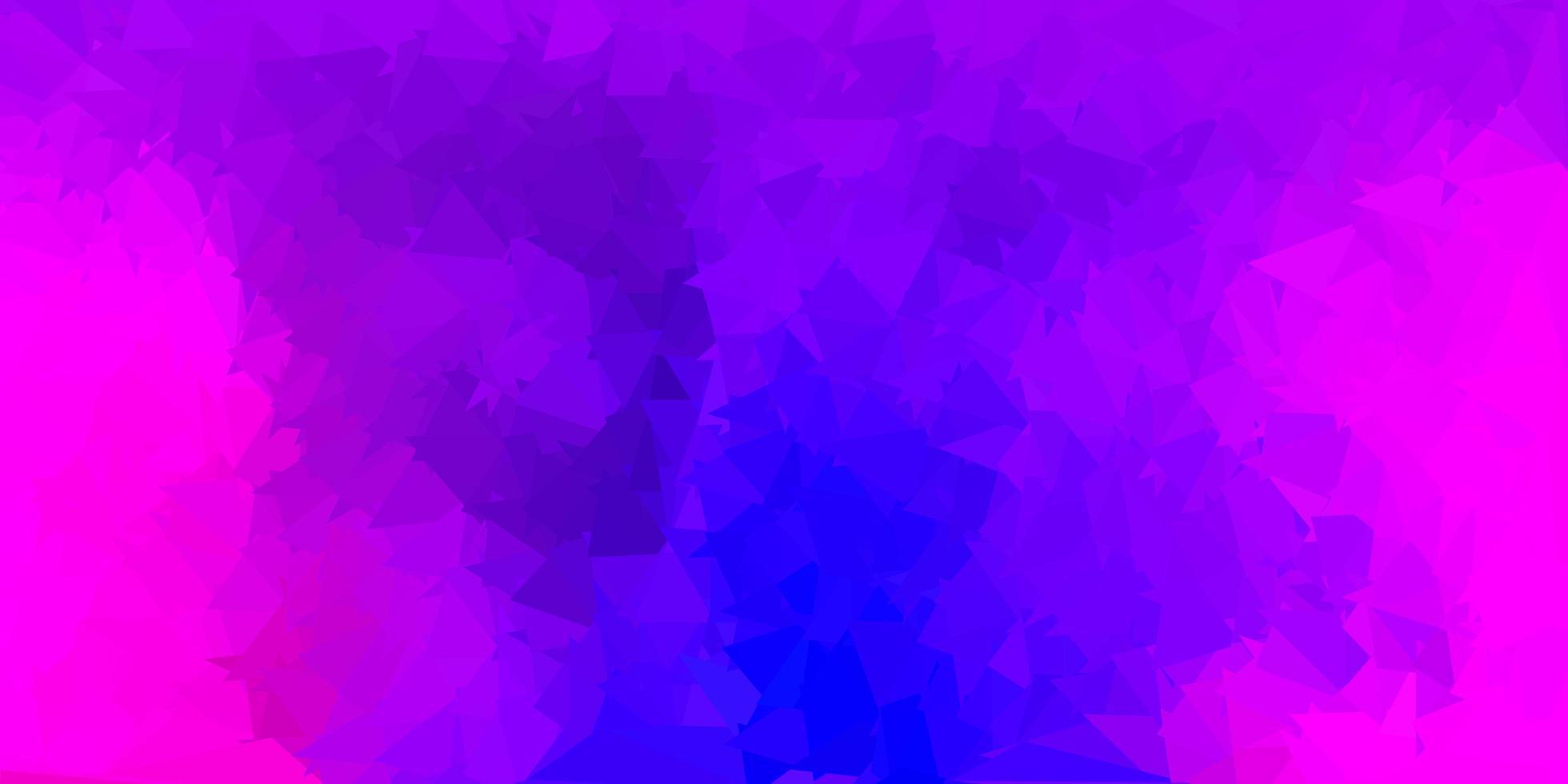 textura de triângulo abstrato vetor roxo escuro e rosa.