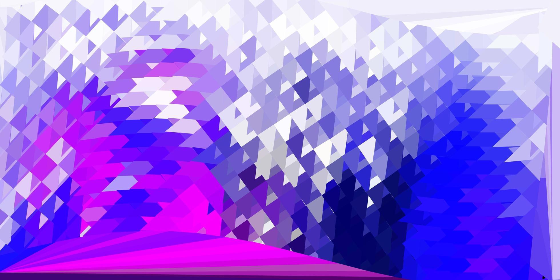 modelo de mosaico de triângulo de vetor de rosa escuro e azul.