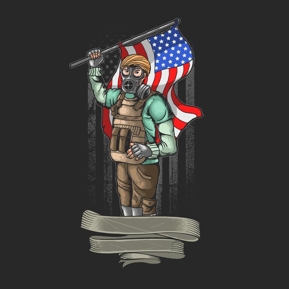 vetor de ilustração do exército civil liberdade