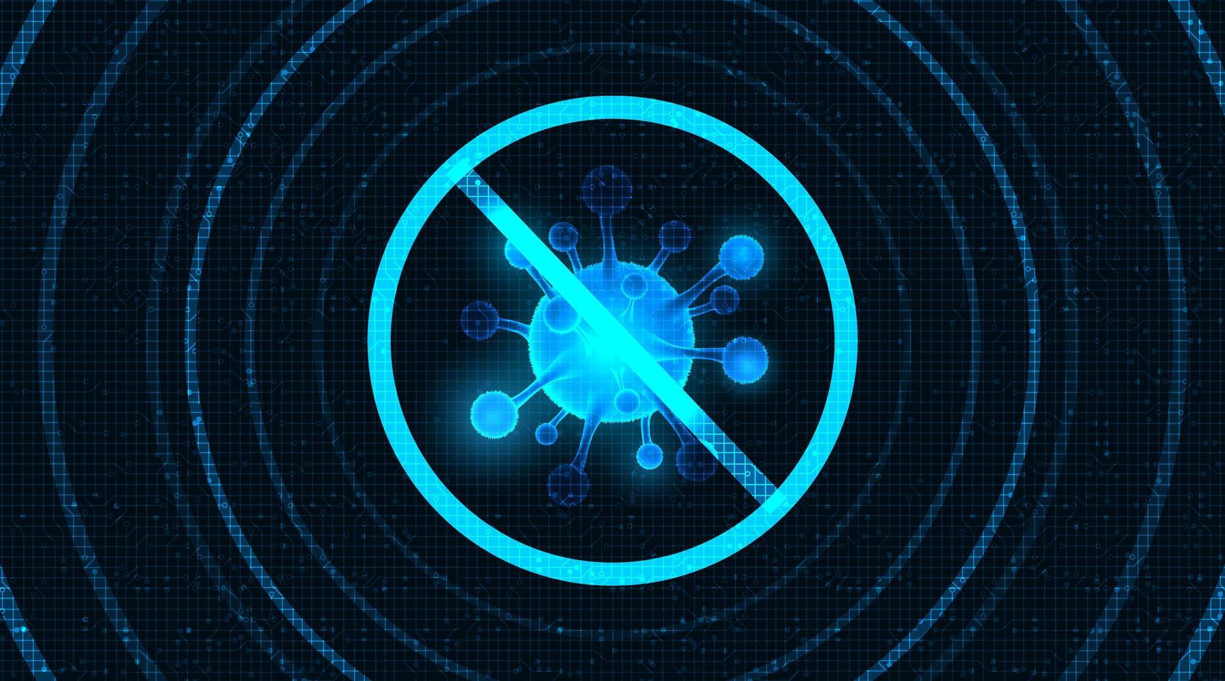 tecnologia covid-19 design de célula vetor