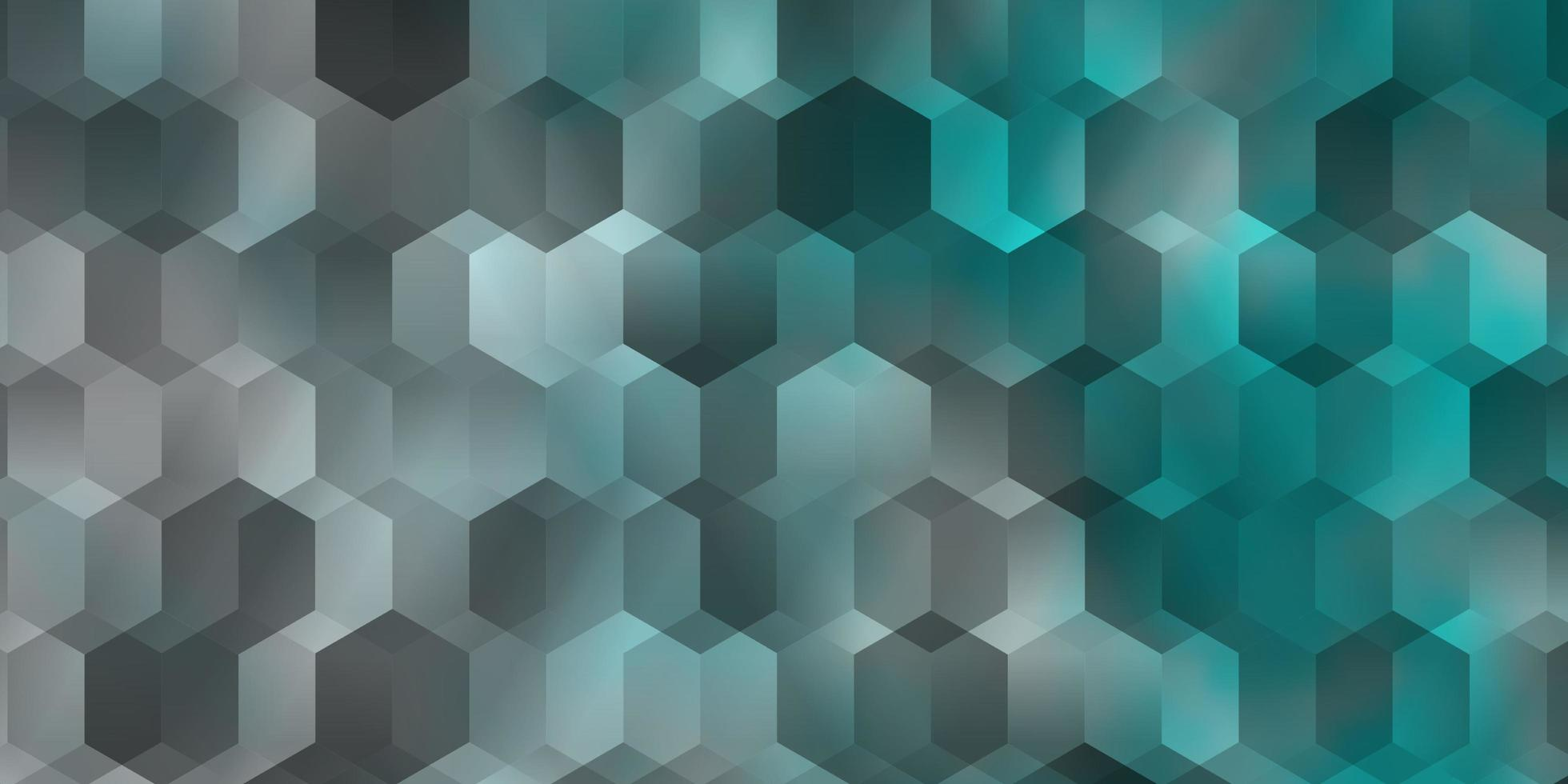 textura vector azul claro com hexágonos coloridos.